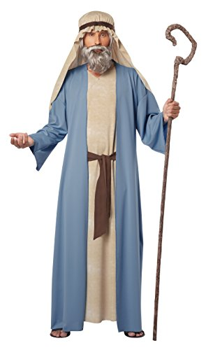 Biblical Costumes - California Costumes Men's Herdsman Noah Adult Costume, Blue/Tan, Large/X-Large