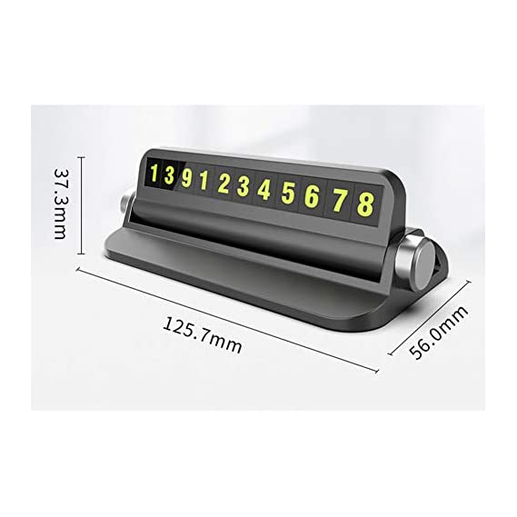XuBa Car Accessories Car Parking Card Hidden Phone Number Plate Luminous Sticker Temporary Stop Car Card