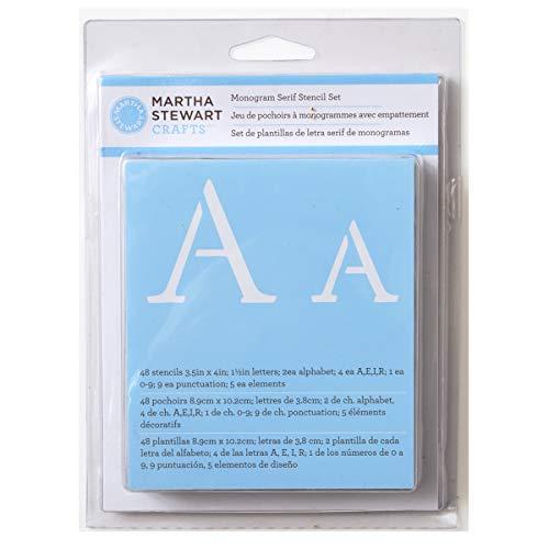 Amazon martha stewart crafts alphabet stencil 32277 monogram serif spiritdancerdesigns Images