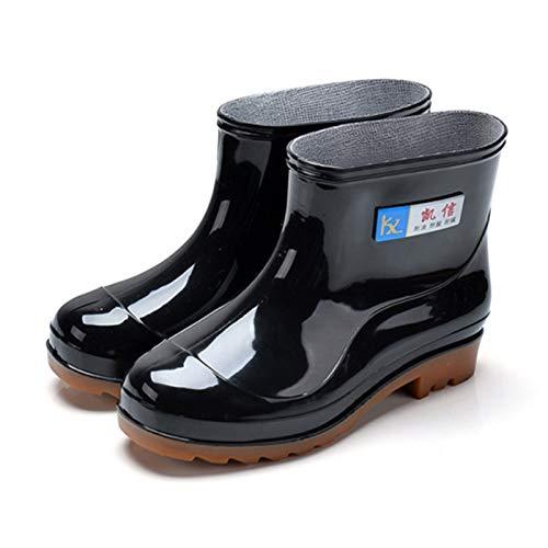 ShopSquare64 Männer Regen Stiefel Lässige Rutschfeste atmungsaktive Wasserdichte Outdoor Slip am KnöChel Stiefel