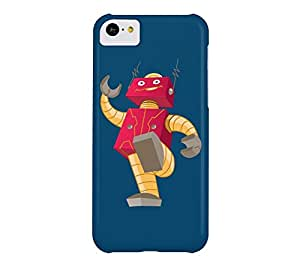 BIG RED ROBOT iPhone 5c Dark imperial blue Barely There Phone Case