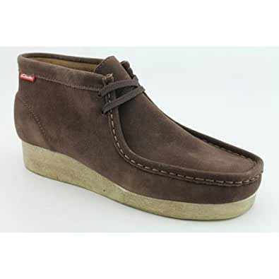 Clarks Padmore Mens Size 7 Brown Boots Ankle Regular Suede Casual Boots
