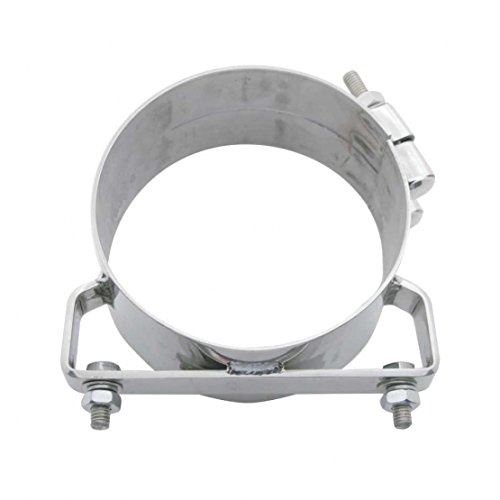 United Pacific 10325 8 inch Deluxe Stainless Steel Wide Band Exhaust Clamp