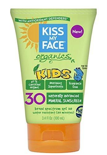 Kiss My Face Spf#30 Organics Kids Sunscreen 3.4 Ounce (100ml) (2 Pack)