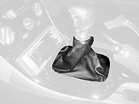 RedlineGoods Shift Boot Compatible with Pontiac GTO 2004-06 Black Leather-Silver Thread