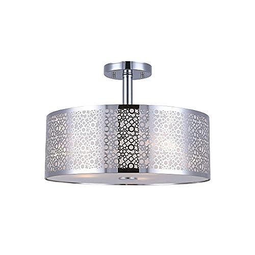 Canarm isf543a03ch piera 3 light semi flush mount with crystal chrome