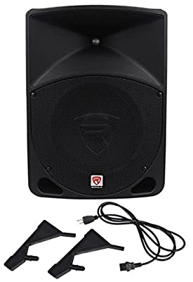 "(2) Rockville RPG10 10"" Powered 600W DJ PA Speakers+(2) Subs+Stands+Cables+Bag from Rockville"
