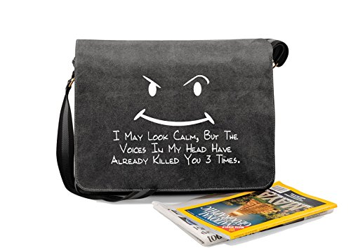 Quadra Novelty May Black Calm I unisex Vintage Despatch Funny Canvas Bag Sayings Look f0YwqwSp