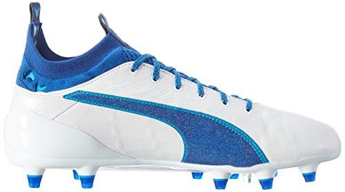 Puma Evotouch 1 Fg, Botas de Fútbol para Hombre Blanco (Puma White-true Blue-blue Danube 03)