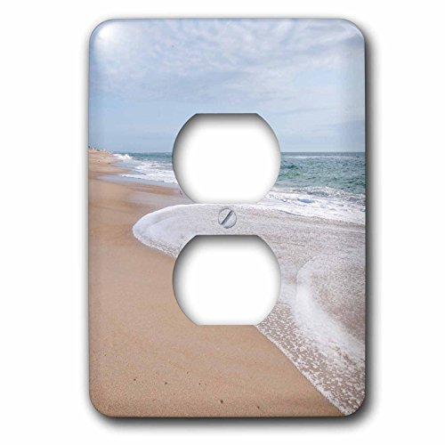 3dRose Danita Delimont - Beaches - Beach near Kitty Hawk, Outer Banks, North Carolina, USA. - Light Switch Covers - 2 plug outlet cover (lsp_259810_6) (Best Beaches Near North Carolina)