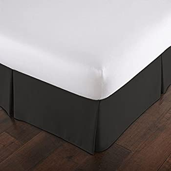 Amazon.com: Bed Ruffle Skirt (Full, Black) Brushed Microfiber Bed ...