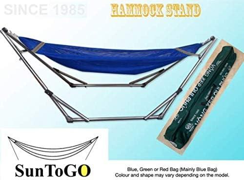 Acero inoxidable soporte de hamaca plegable. Jardín interior y exterior para tumbona Swing silla y cama (acero inoxidable) – capacidad 140 kg: Amazon.es: Jardín