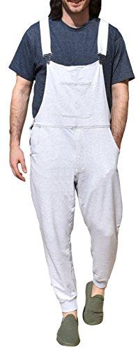 The Great Fantastic Men's Swoveralls LITE 100% Terry Cotton (Large, Light Grey) - Lite Zip Tee