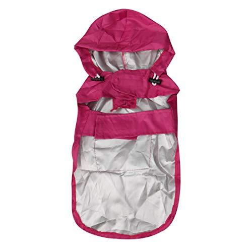 uxcell Pet Dog Raincoat Dogs Rain Jacket Poncho Coat Nylon Puppy Water-Resistant Hooded Rainwear Purple L