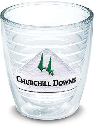 Tervis 1327728 Kentucky Derby 2019 Churchill Downs Insulated Travel Tumbler with Emblem, 12oz - Tritan, Clear