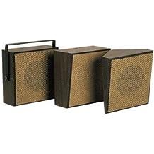 VALCOM VC-V-1026C 1W/1Way Bi-Direct Speaker, Brown White Box