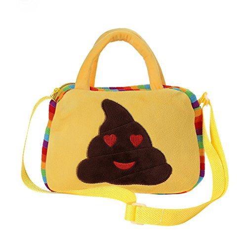 Yellow Emoji Shoulder Bag, Nevera Emoticon School Child Bag Backpack Satchel Rucksack Handbag (D)