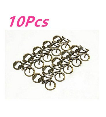 ASIBT 10PCS Antique Bottle Opener- Antique Bronze Bicycle Bottle Opener,Wedding Favors/ Fun Party Favors (Wedding Antique Favors)