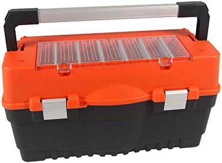 Caja de herramientas (Pesca maletín Formula Carbo aluminio naranja ...