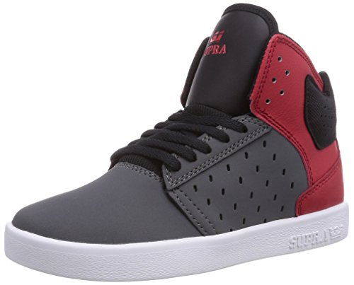 Gris Supra red grey Garçon white Atom Baskets Mode xn4wOAICq7