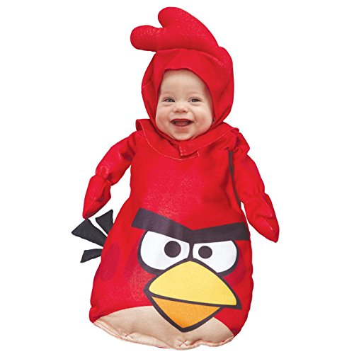 [Paper Magic Red Angry Birds Infant Costume] (Toddler Angry Birds Red Bird Kids Costumes)