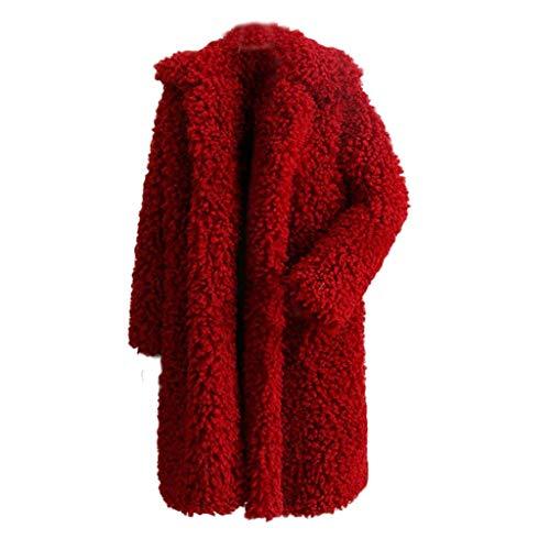 Lungo Felpa Invernale Lunga Moda Sintetica Maglione Cappotto Cardigan Pelliccia  Di Vino ❤ Lana Outerwear Pullover ... 7c80bc1938e
