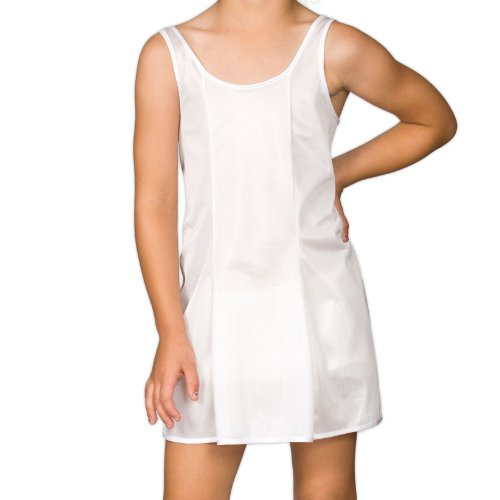 I.C. Collections Big Girls White Sleek Nylon Slip, - Girls Slip
