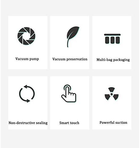 XJBHRB Vacuümverpakker, levensmiddelen-vacuümmachine, bediening met één hand, voor langdurig gebruik, levensmiddelen, loodvrij, vacuümvrij tot 5 x langer vers, 30 cm lang