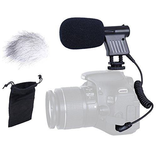 Movo VXR1000 Mini HD Shotgun Condenser Microphone for DSLR Video Cameras by Movo