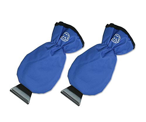 Ice Scraper Gloves for Car (2 Pack - Blue - Extra Small), Windshield/Window Hand Mitts for Scraping Snow