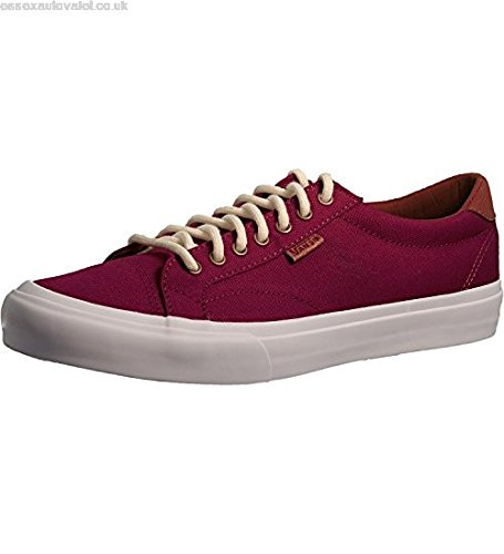 Vans Mens Court Canvas Low Top Lace Up Skateboarding Shoes Red Size 5.0