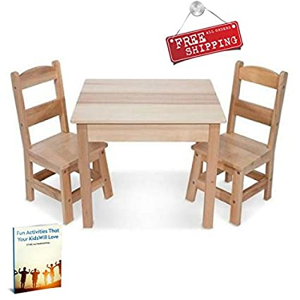Amazing Amazon Com Ats Toddler Table Set With Chairs Dining Machost Co Dining Chair Design Ideas Machostcouk