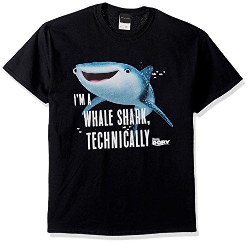 Disney Mens Finding Dory Destiny Technically Whale Shark Graphic T-Shirt