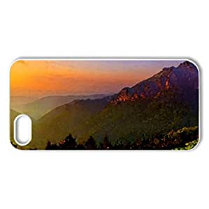 SUMMER DUSK - Case Cover for iPhone 5 and 5S (Sunsets Series, Watercolor style, White)