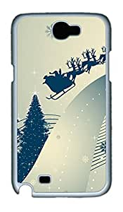 Samsung Note 2 Case Santa Claus And Raindeer PC Custom Samsung Note 2 Case Cover White