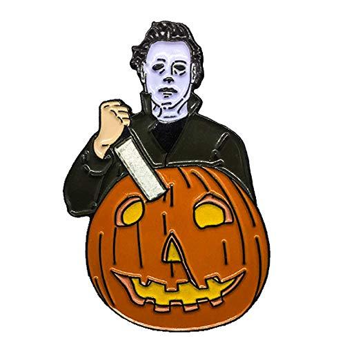 Michael Myers Enamel Pin | Halloween 1978 | Horror Movie | Glow in The Dark | Horror Pin | Mask | Lapel Pin | John Carpenter ()
