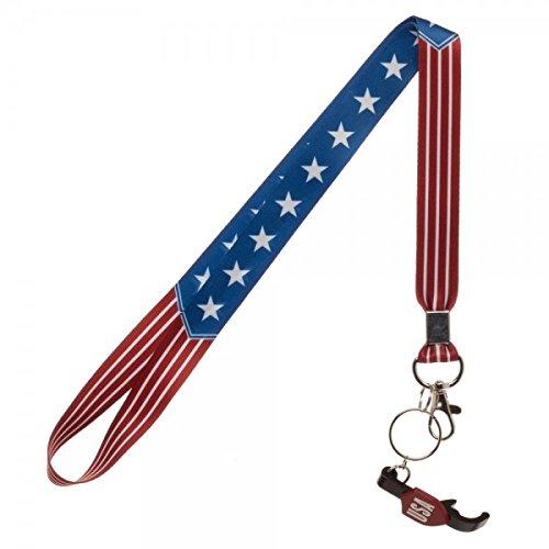 (Americana USA Flag Lanyard w/ Bottle Opener Key Chain)