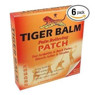 Baume du Tigre Patch, Patch soulager la douleur, 5-Count Coffrets (Paquet de 6)