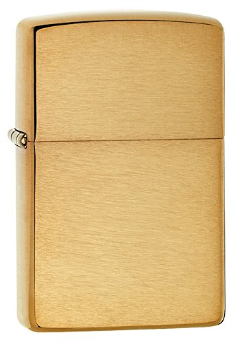 Zippo 168 Armor Brushed Brass Pocket - Gold Solid Insert