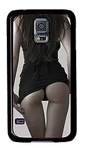 Diy Fashion Case for Samsung Galaxy S5,Black Plastic Case Shell for Samsung Galaxy S5 i9600 with Sexy Woman Buttocks