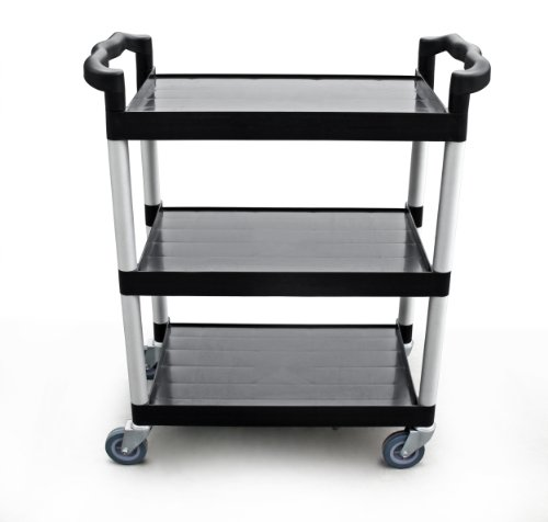 New Star 1 pc Heavy Duty Utility Cart Bus Cart 350 lbs Load 3 Tier Cart 42-1/2x19-1/2x38-1/2