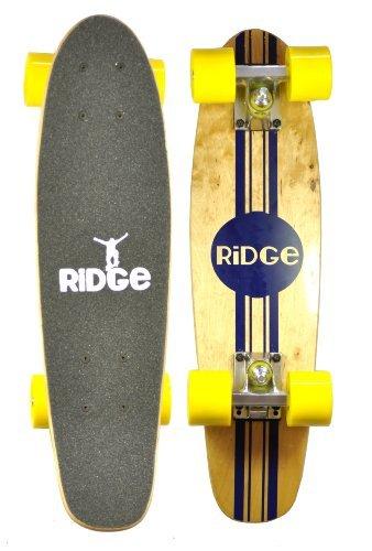 UPC 799456400617, Ridge Maple Mini Retro Cruiser Skateboard - Yellow, 22 Inch