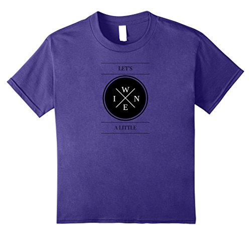 Kids Funny Wine Lover Gift T-Shirt for Winery Drinking Tee 12 Purple
