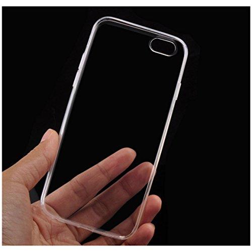 "iPhone 6 Phone Case - SODIAL(R)Ultra duennes Transparente Weiche TPU Haut Abdeckung mit Kristall fuer iPhone 6 4.7"""