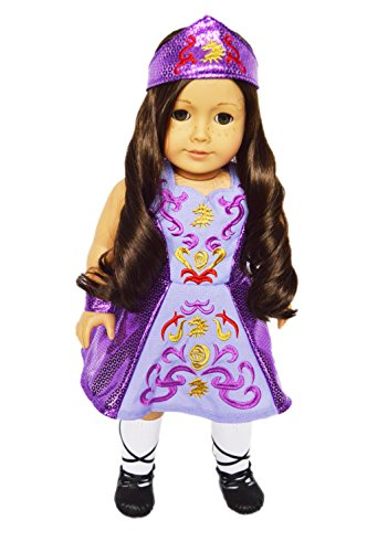 My Brittany's Lavender Irish Dance Outfit for American Girl Dolls-Doll Clothes for American Girl Dolls