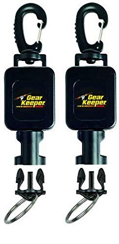 (Hammerhead Industries Gear Keeper Small Scuba Flashlight Retractor RT4-5912 - Features Heavy-Duty Swiveling Snap Clip Mount with QC-II Split Ring Accessory - Made in USA (Twо Расk))