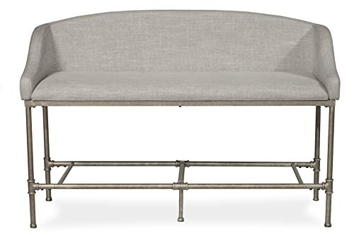 Hillsdale Furniture 4188-890 Dillon Upholstered Upolhstered Counter Height Bench, Pewter