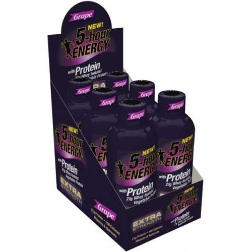 5 Hour Energy Grape Extra Strength Protein Shots, 6 Fluid Ounce -- 72 per case. by 5 Hour Energy