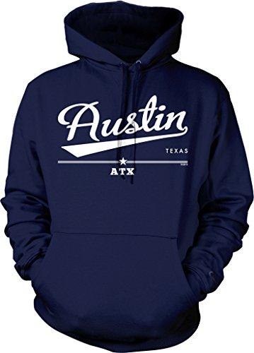Austin, Texas, ATX Hooded Sweatshirt, NOFO Clothing Co. M Navy]()