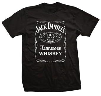 jack daniels t shirt black logo tee front. Black Bedroom Furniture Sets. Home Design Ideas